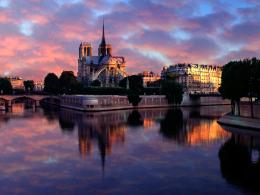 Notre Dame at Sunrise Paris France 1317