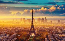 Eiffel Tower Sunset 833