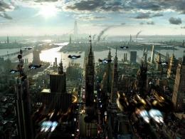 Wallpapers3DFuture City from Above 874