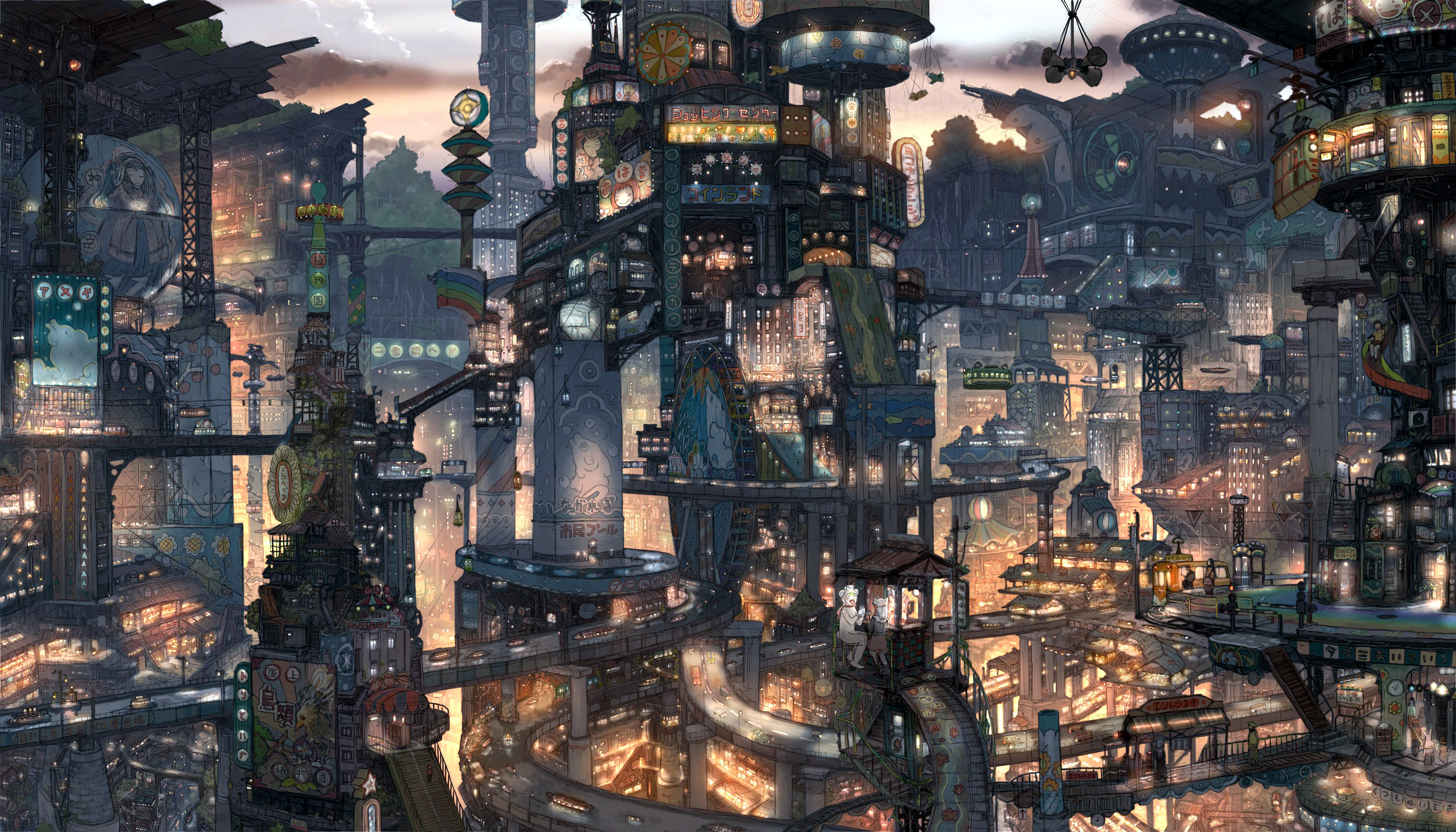 Anime Future City 1558
