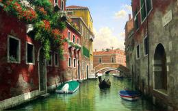 Description: The Wallpaper above is Mark petit venice art Wallpaper in 1129
