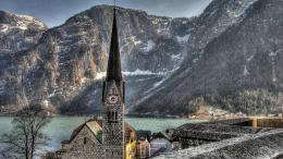 church in hallstatt austria widescreen high definition wallpaper 541