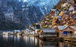 high definition wallpaper hallstatt in winter austria hd wallpaper 1205