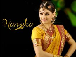 hansika motwani yellow saree 1402