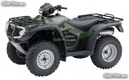 Download wallpaper Honda, ATV, FourTrax Foreman, 2009 FourTrax Foreman 146
