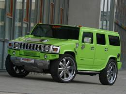 Green Hummer H2 HD Car Wallpapers 1436