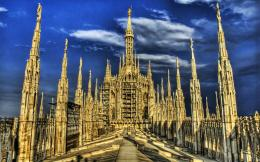 Roof of Milan Cathedral, Italy HD Wallpaper 578