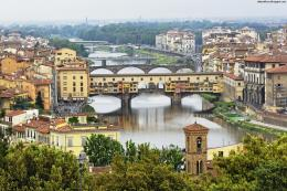 Beautiful Italian Old Bridge Arno River Italy Hd Desktop Wallpaper 1208
