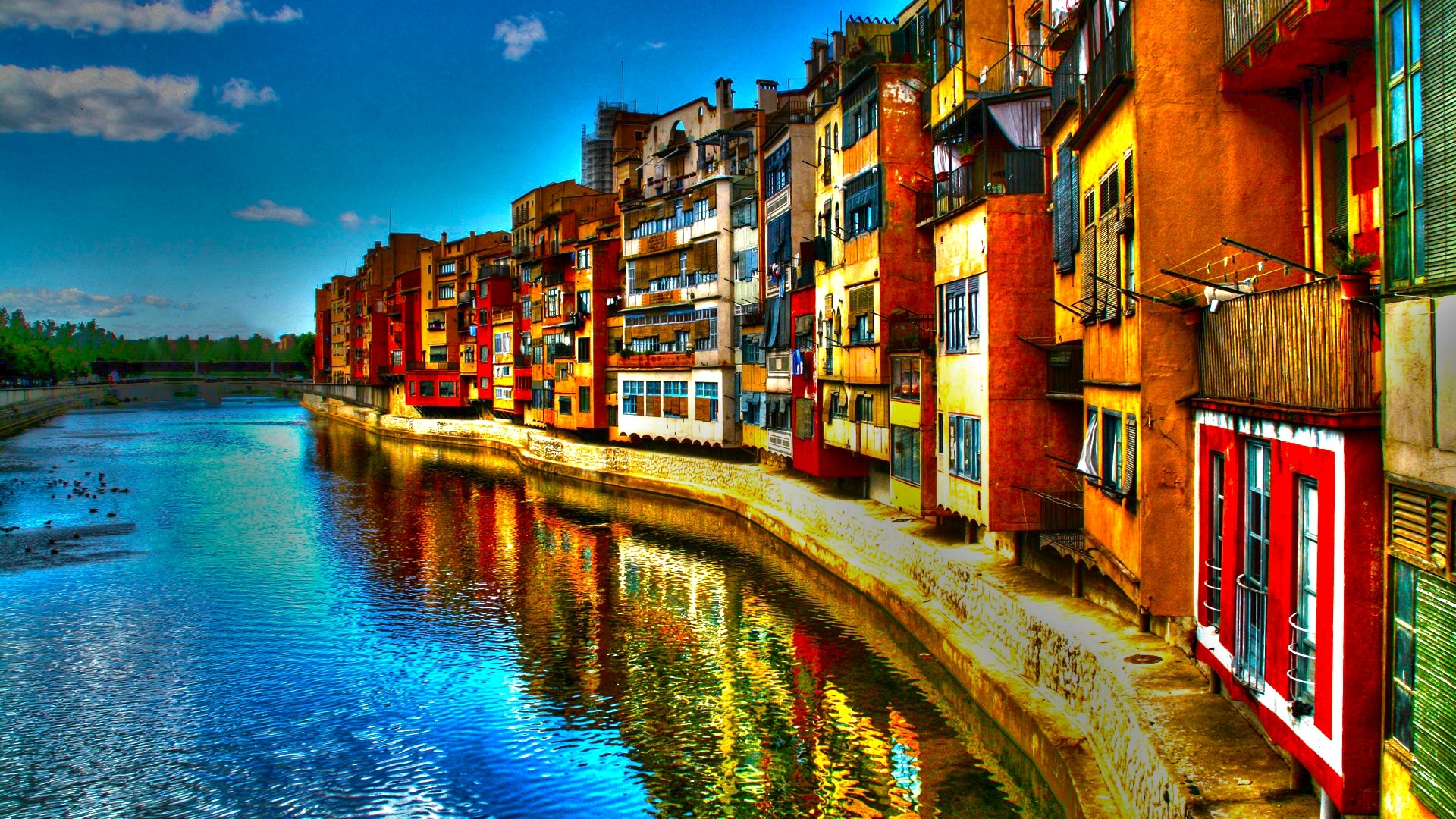 Italy Wallpaper Of 9 Italy River Building Hdr Hd Wallpaper 1326 Italy Hd