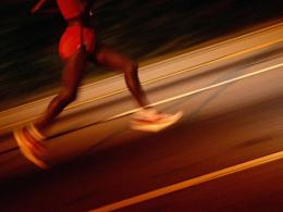 motion picture of female running on roadSports Desktop Wallpaper 506