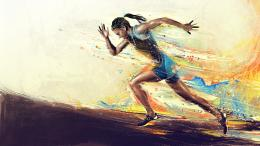 2560x1440 Woman Running desktop PC and Mac wallpaper 1238