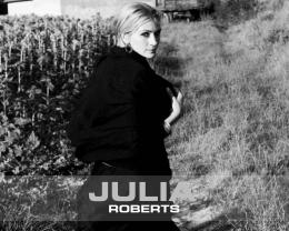 Wallpaper: Julia Roberts black and white wallpapers 1656