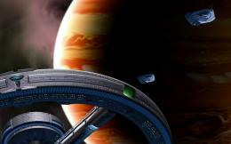 Jupiter Station ships planet space spaceship wallpaper background 1480