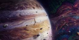 Wallpaper art, jupiter and juno, planet, giant, jupiter, space 692