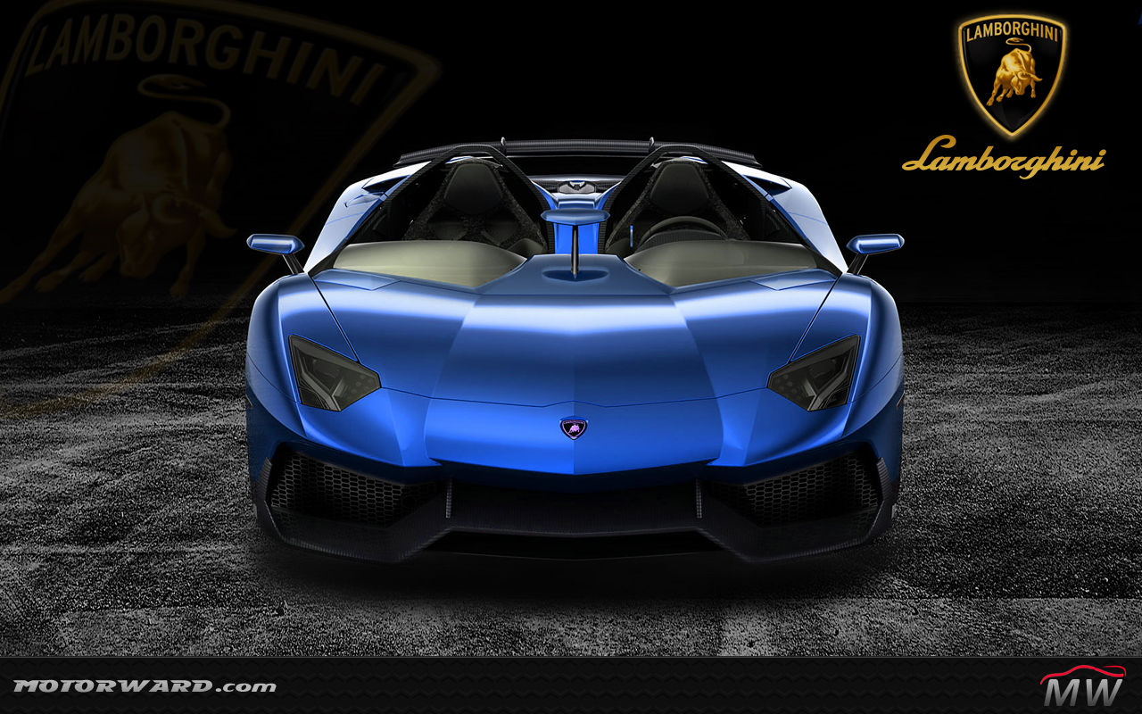 lamborghini aventador j blue front wallpaper motorward at Lamborghini 1312