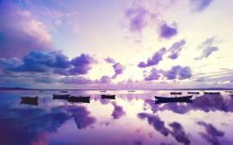 Purple Sunset Ocean HD Wallpapers 1376
