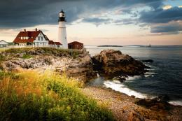 head lighthouse hd wallpaper hd widescreen portland head lighthouse 1958