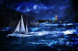 Download Thunderstorm At Lighthouse wallpaper 1226