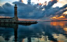 Greece Nature Lighthouse Ocean Reflection Landscape Hd Wallpaper with 349