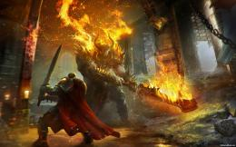 Lords of the Fallen fantasy warrior battle demon y wallpaper 978