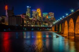 shtat minnesota noch neboskrebyi widescreen high definition wallpaper 1329