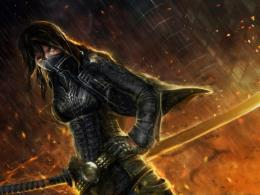 Ninja Fantasy Girl HD Wallpaper 540x405 Warrior Mask Ninja Fantasy 1220