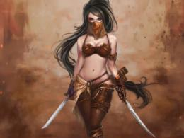 Fantasy Warrior Girl 1353