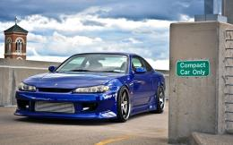 Nissan silvia s15 blue 2014 Background HD Wallpaper 1680