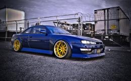 blue hot nissan silvia s14 hd wallpapers 993