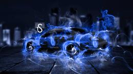 Nissan Silvia S15 Blue Fire City Car 2014 Hd Wallpapers Design By Tony 794