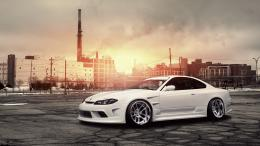 Nissan Silvia S15 White Car HD Wallpaper 245