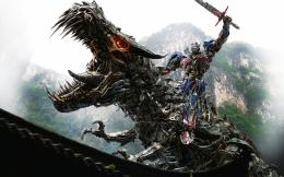 Optimus Prime on Dinobot 1881