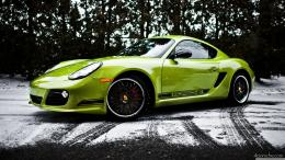 2012 Green Porsche Cayman – 4K Wallpaper 1869