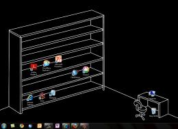 The Desktop Icons wallpaper may not be the most beautiful desktop 1706