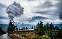 Train Tracks Tracks Railroad Landscape Scenic Cloud HDR Wallpaper 935