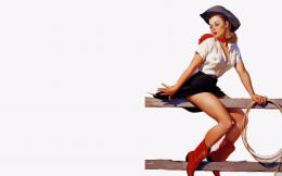 cowgirl vintage pin up wallpaper 1273