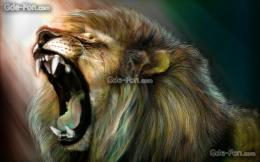 Download wallpaper Art, lion, roar free desktop wallpaper in the 1168