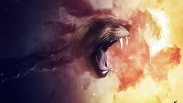 1280x720 Lion Roar desktop PC and Mac wallpaper 740