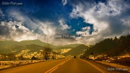 wallpaper romania, road, sky, landscape free desktop wallpaper 1711
