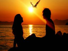 Romantic Love Couple Sunset Beach HD Wallpaper 1634