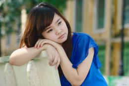 Sad Girl In Blue Top 1920×1280 Wallpaper 1072