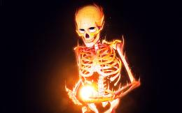 Fantasy Skeleton Fire HD Wallpapers 1162