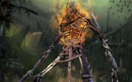 download warrior skeleton wallpaper tags skeleton warrior game fire 1954