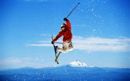 Skiing Jump Winter Sports High Mounts HD Wallpaper 1232