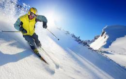 Snow, Mountain, Skiing, Sun, Sports 1368