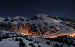 Ski Slopes At Night HD wallpapers 1448