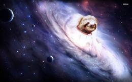 Sloth emerging from the galaxt wallpaper 1280x800 Sloth emerging from 780