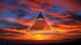 Sloth Triangle Sunset wallpaper background 1583