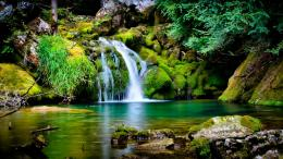 Beautiful Landscape Waterfall Spring Desktop Wallpaper 807