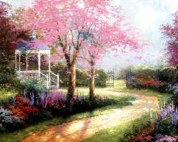 Spring Flowers Garden Painting HD Wallpapers 1063